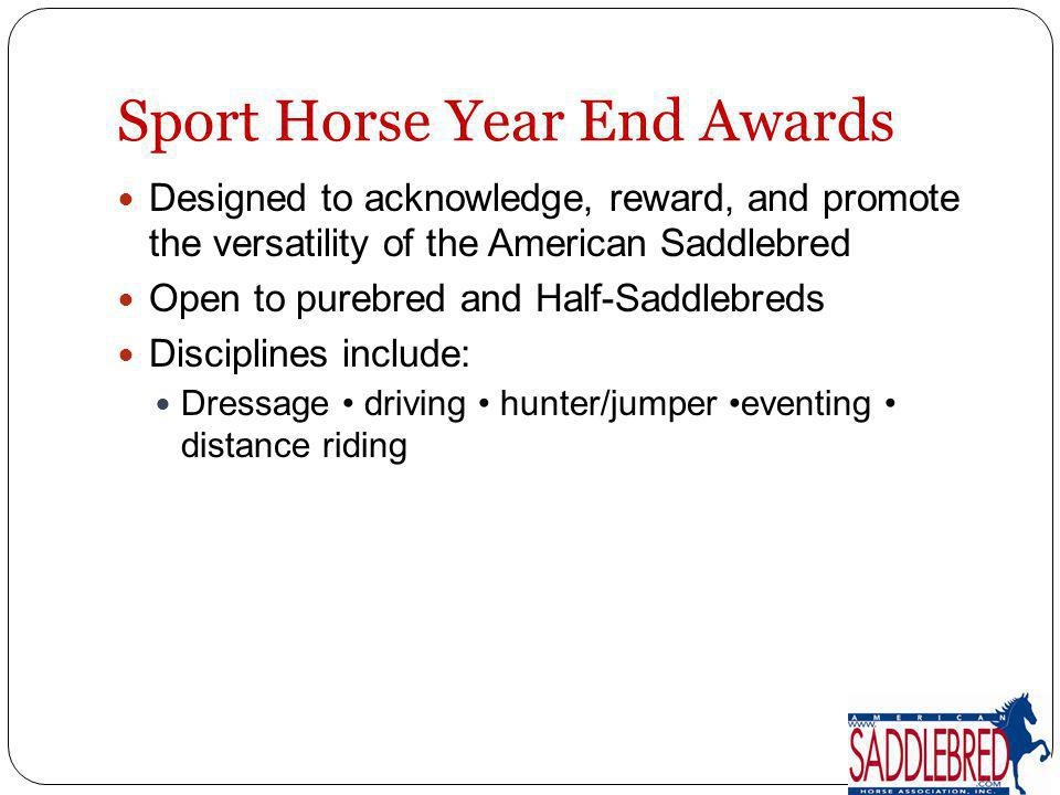 Sport Horse Year End Awards