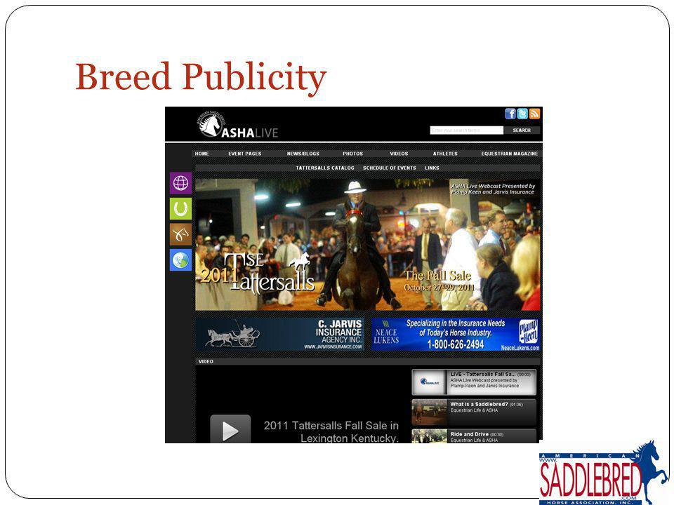 Breed Publicity