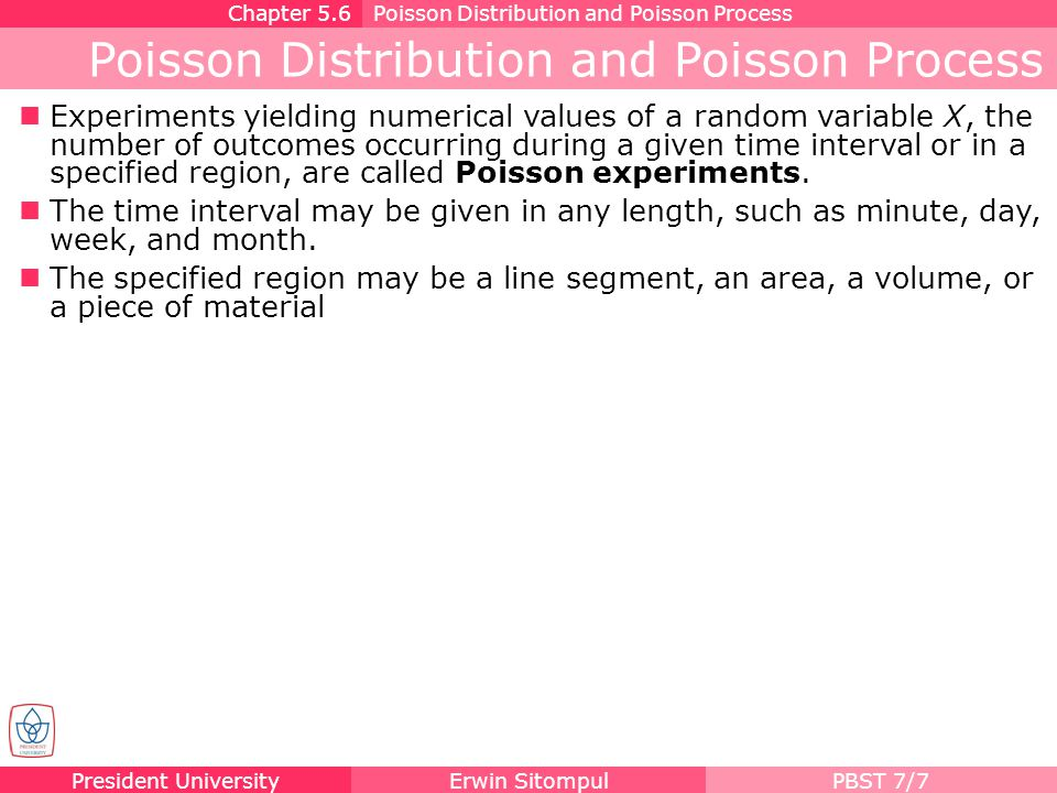 Poisson Distribution and Poisson Process