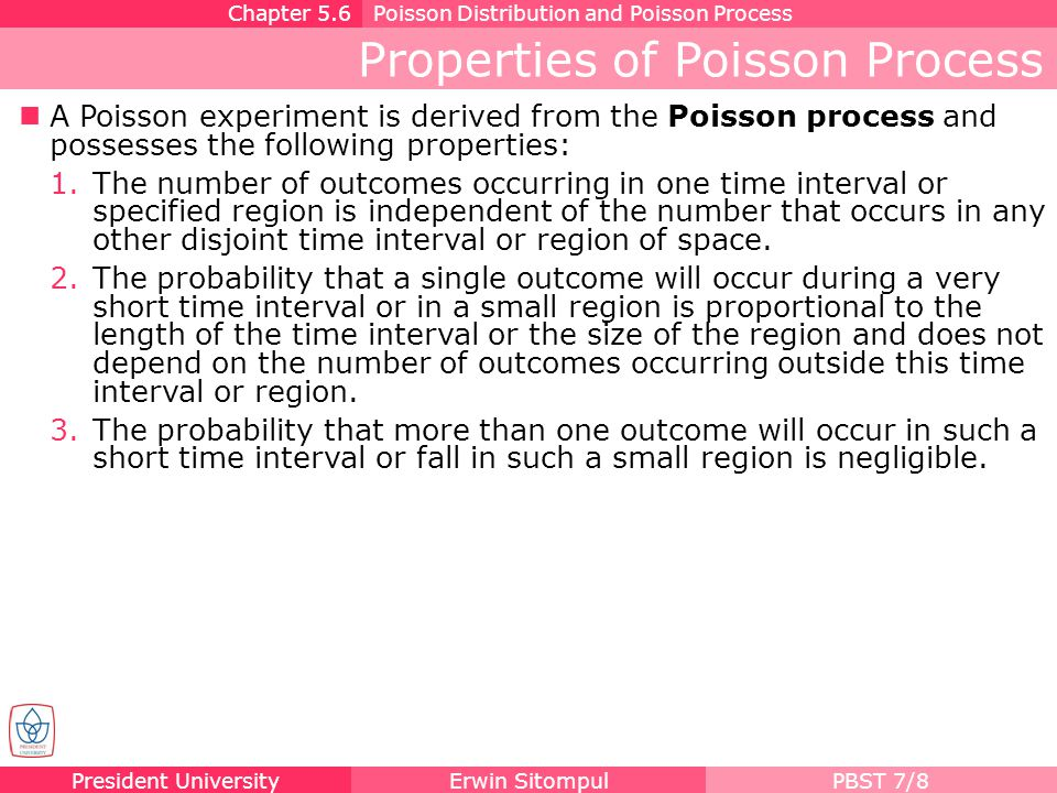 Properties of Poisson Process