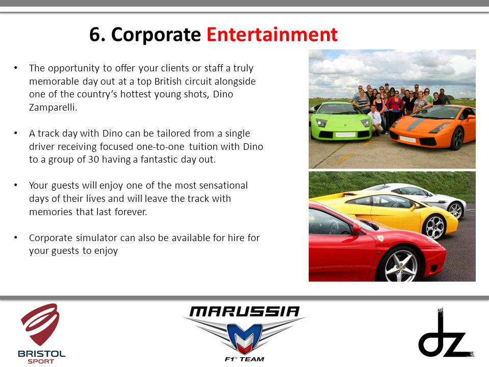 6. Corporate Entertainment
