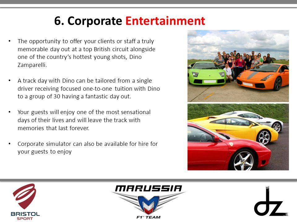 6. Corporate Entertainment