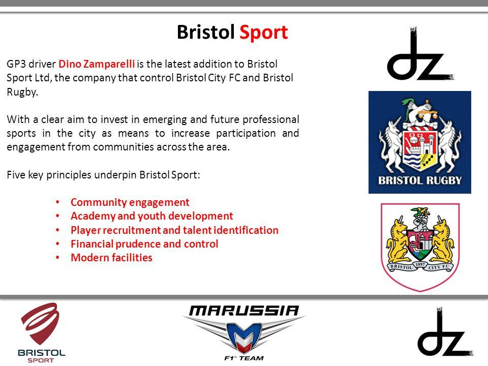 Bristol Sport GP3 driver Dino Zamparelli is the latest addition to Bristol Sport Ltd, the company that control Bristol City FC and Bristol Rugby.