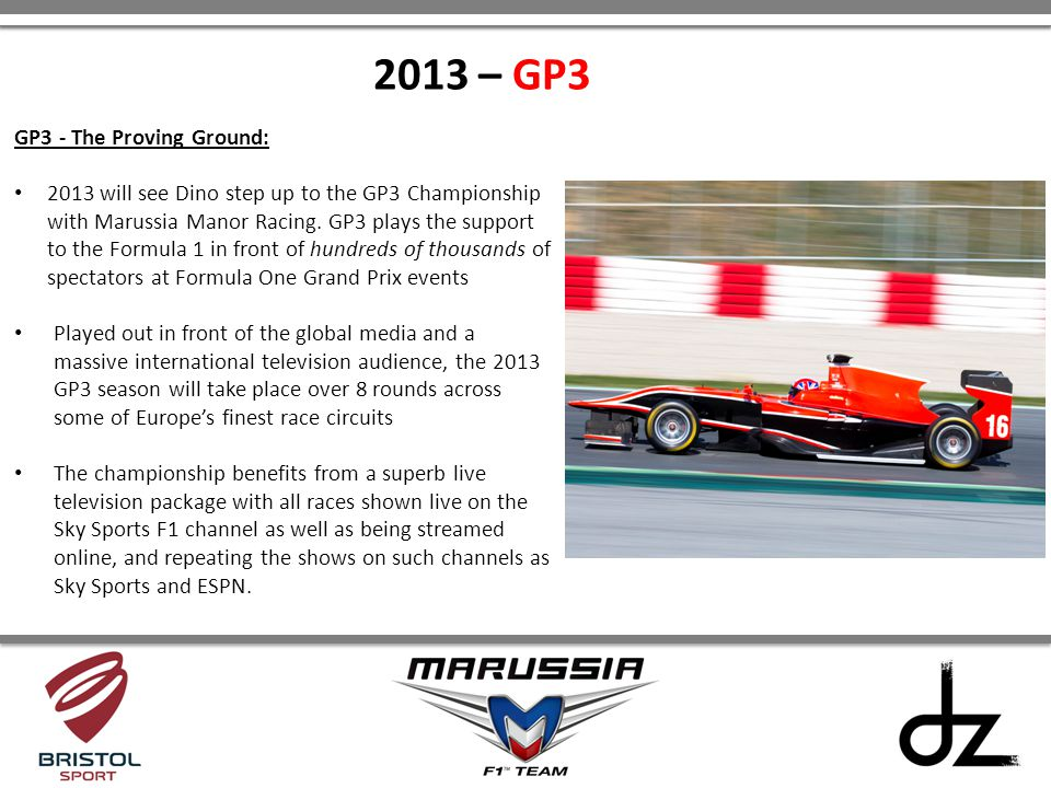 2013 – GP3 GP3 - The Proving Ground: