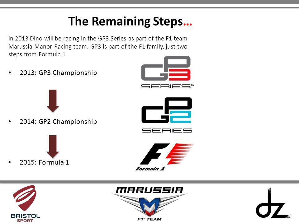 The Remaining Steps… 2013: GP3 Championship 2014: GP2 Championship