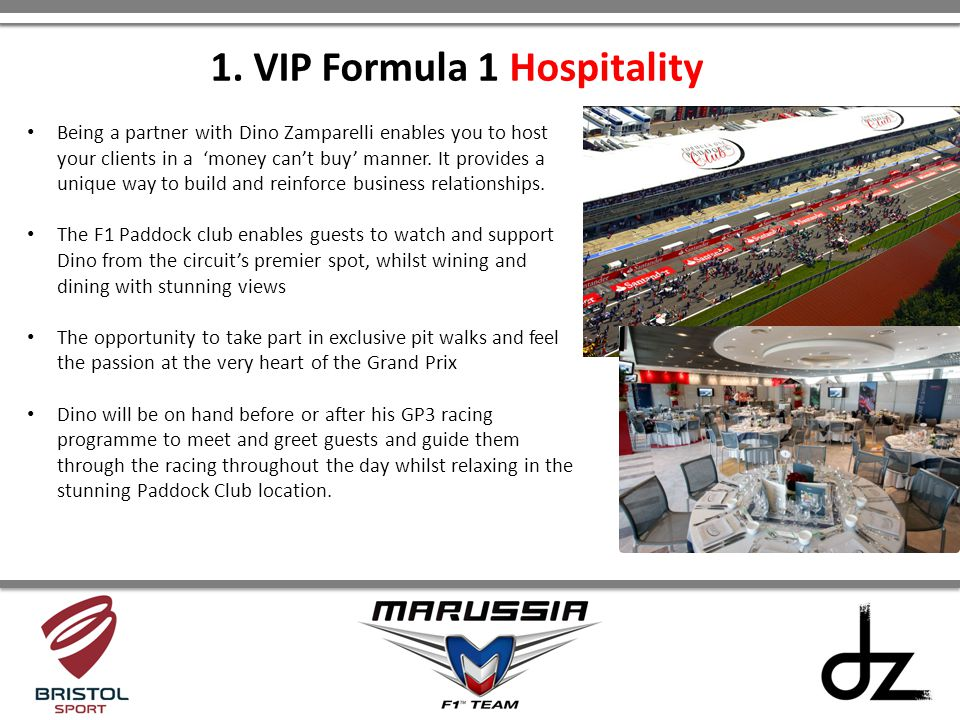 1. VIP Formula 1 Hospitality