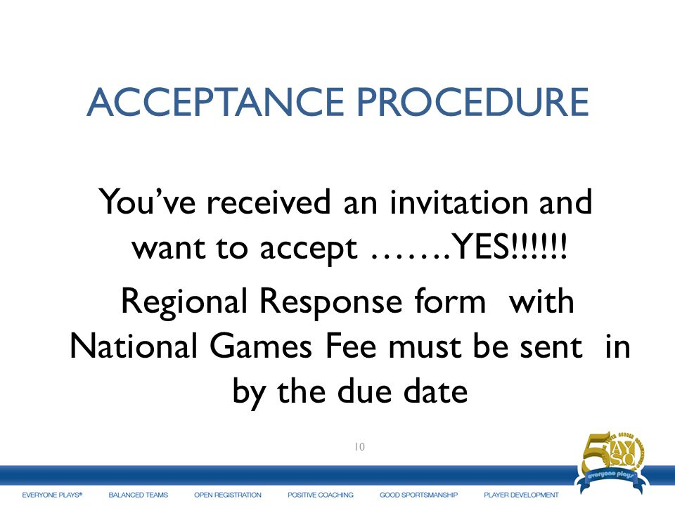 You've received an invitation and want to accept …….YES!!!!!!
