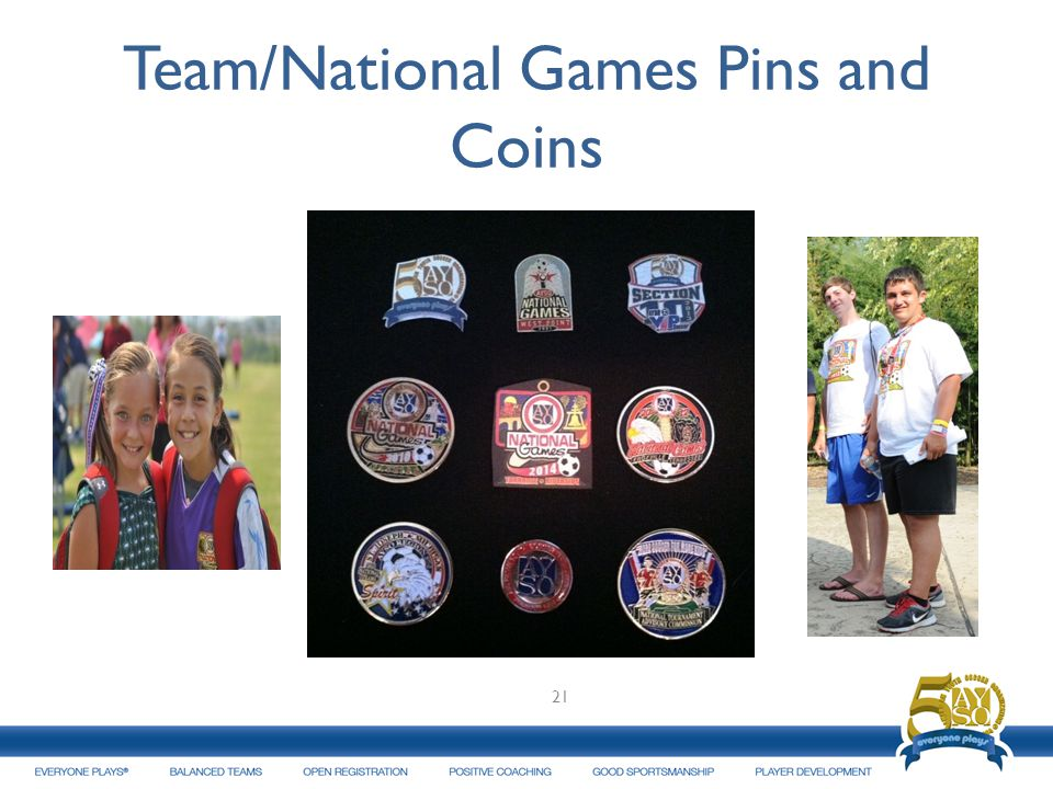 Team/National Games Pins and Coins