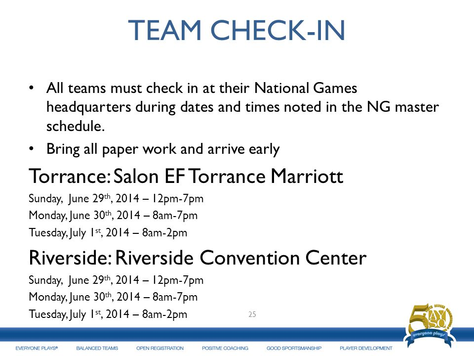 TEAM CHECK-IN Torrance: Salon EF Torrance Marriott