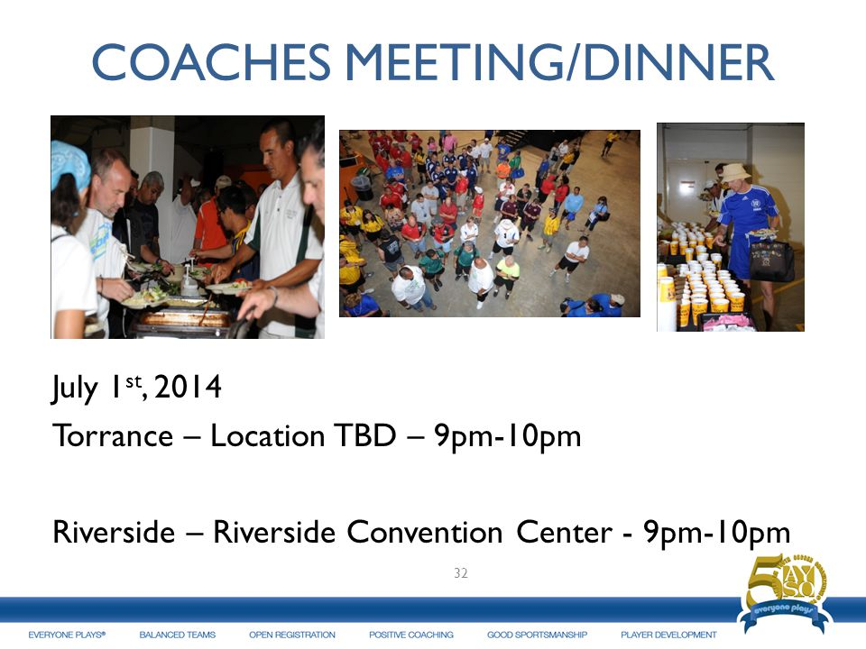 COACHES MEETING/DINNER