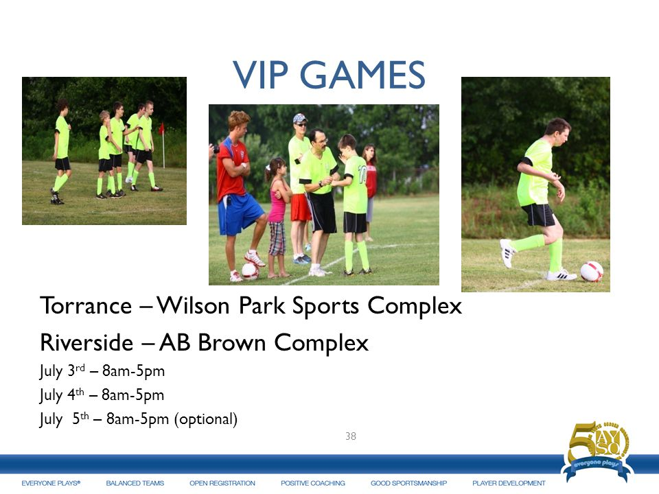 VIP GAMES Torrance – Wilson Park Sports Complex