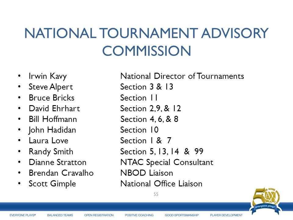 NATIONAL TOURNAMENT ADVISORY COMMISSION