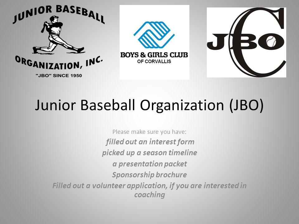Junior Baseball Organization (JBO)