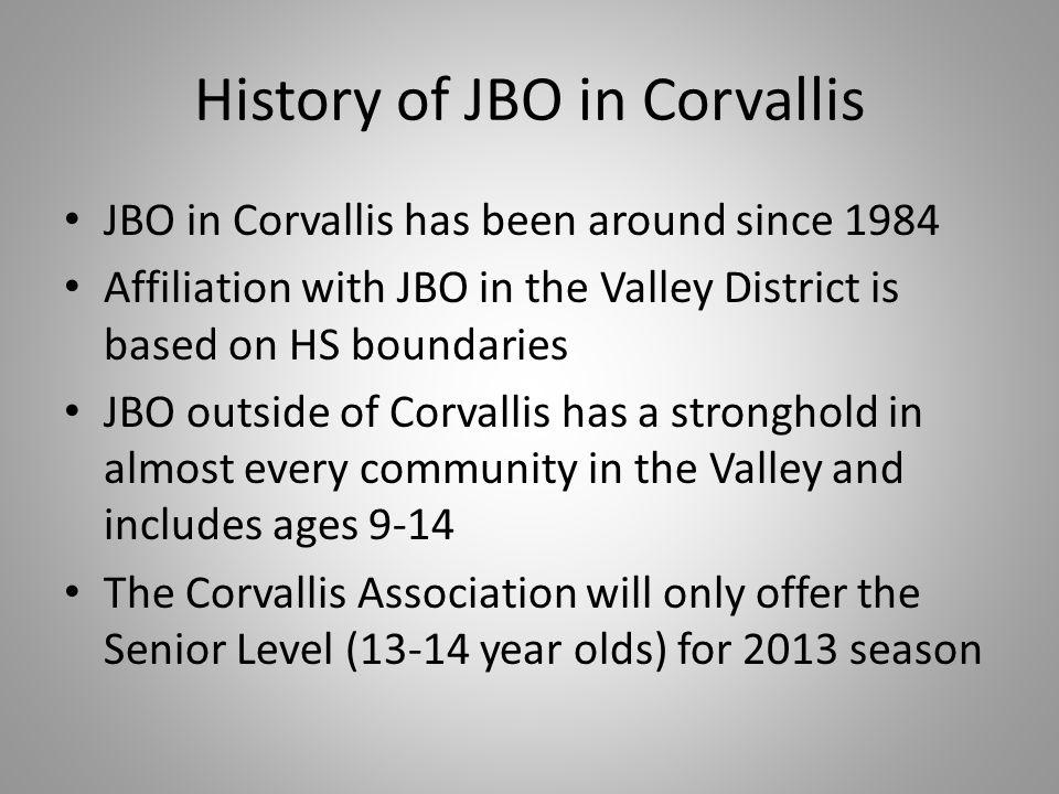 History of JBO in Corvallis
