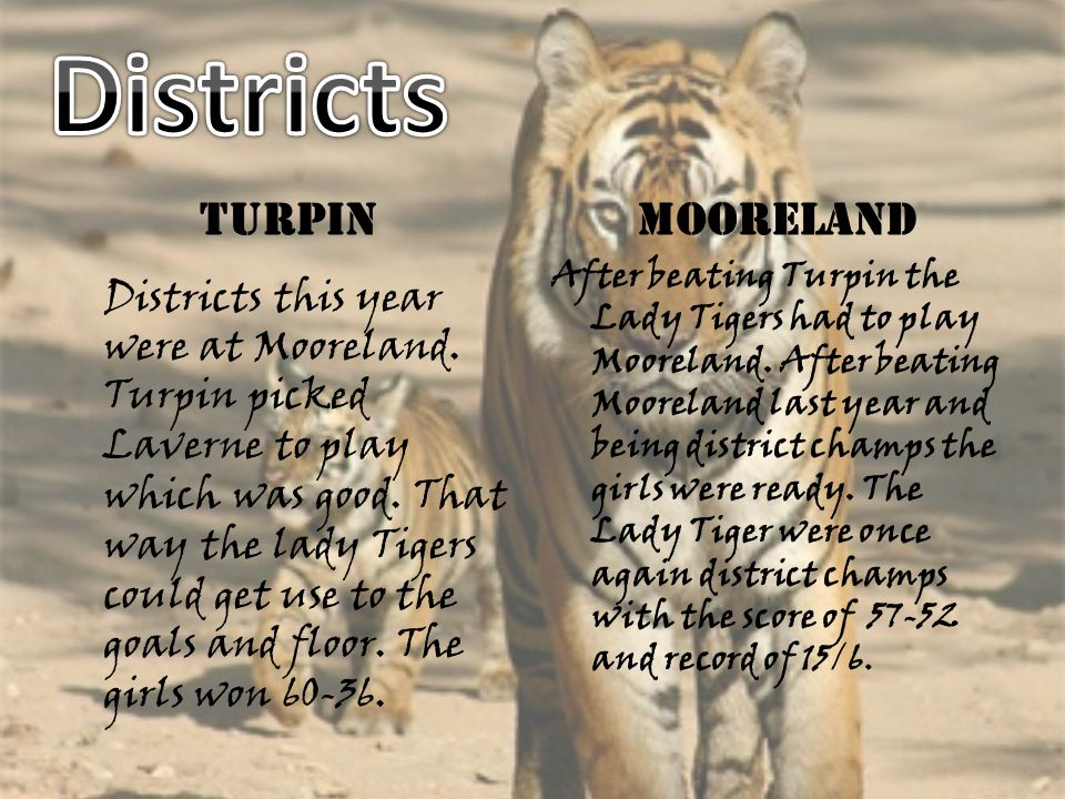 Districts Turpin. Mooreland.