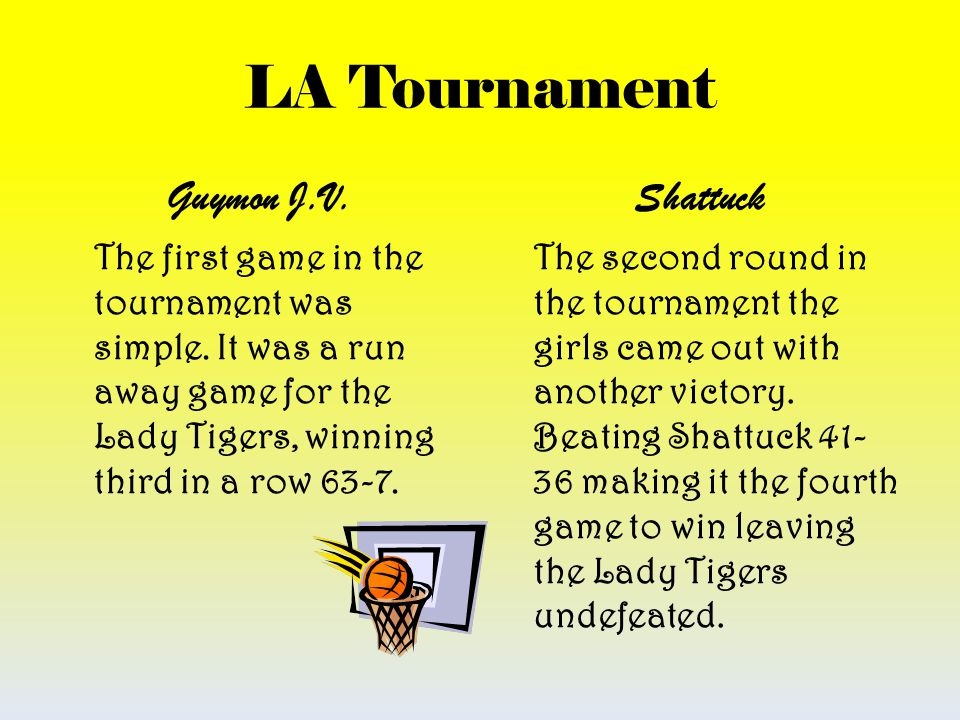LA Tournament Guymon J.V. Shattuck