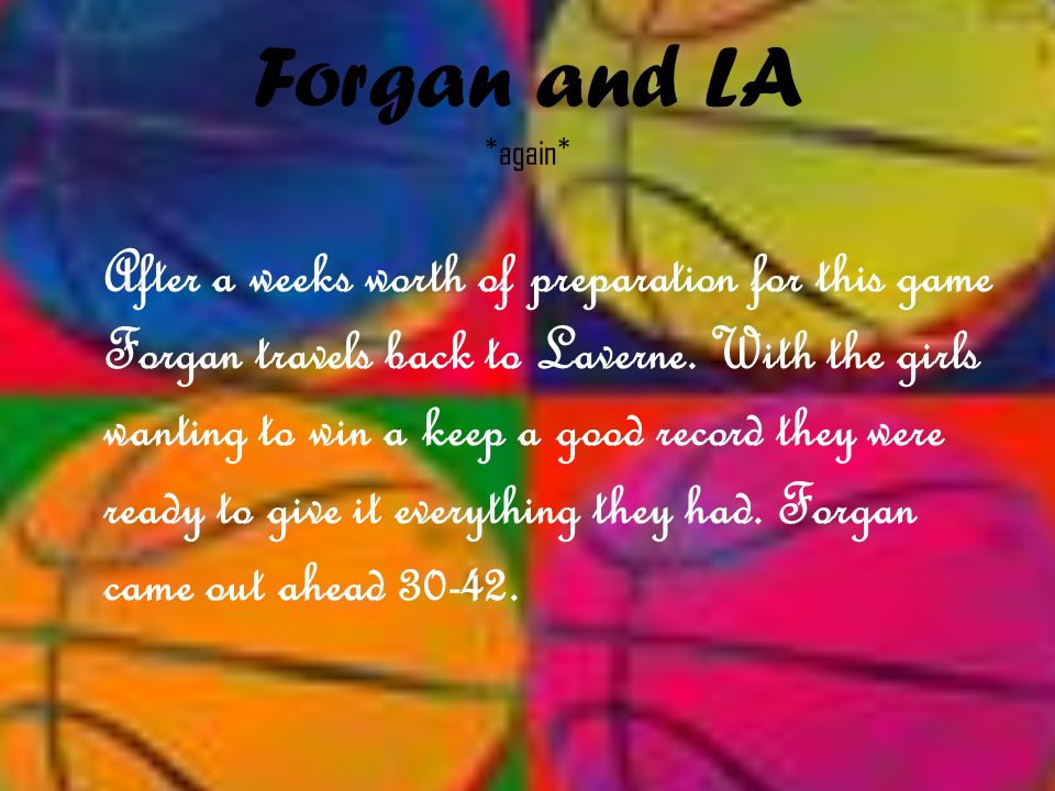 Forgan and LA *again*