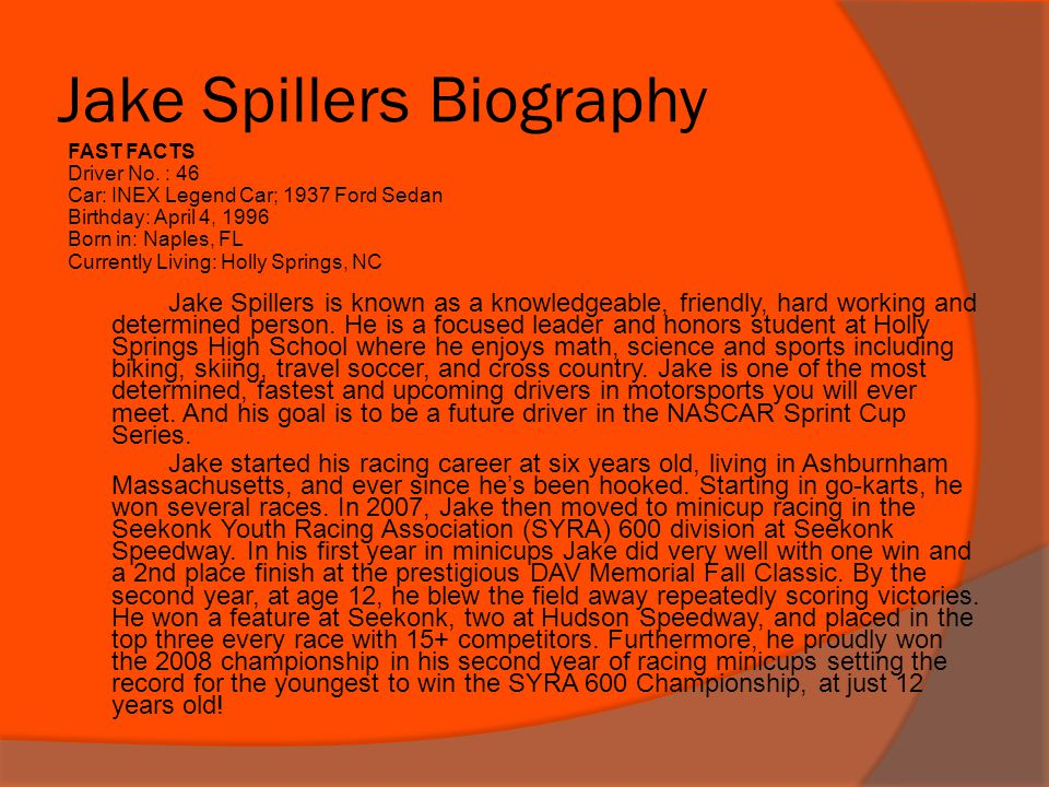 Jake Spillers Biography