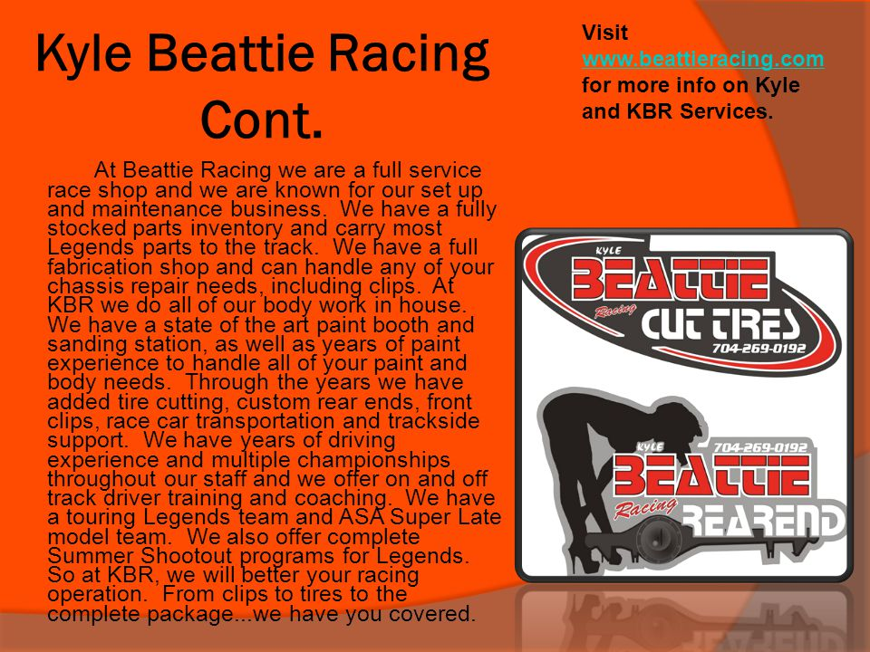Kyle Beattie Racing Cont.
