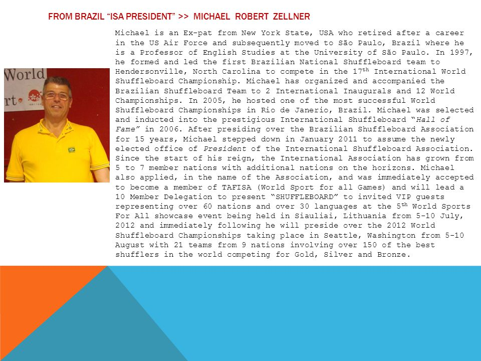 From Brazil ISA President >> michael robert zellner