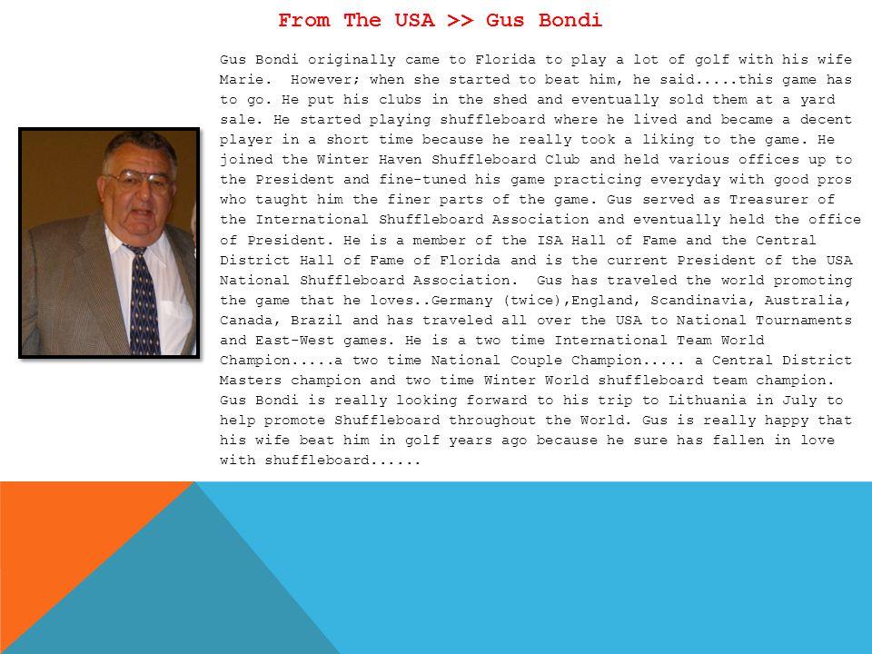 From The USA >> Gus Bondi