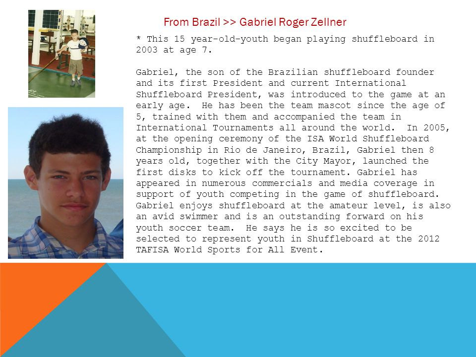 From Brazil >> Gabriel Roger Zellner