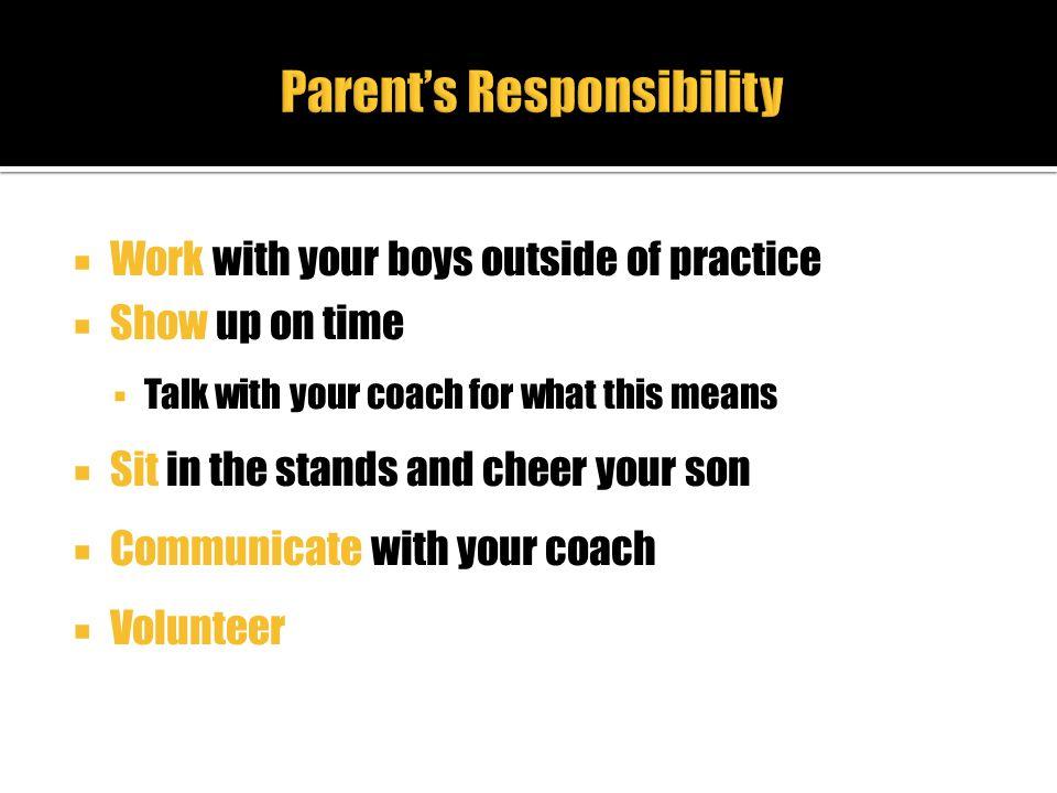 Parent's Responsibility