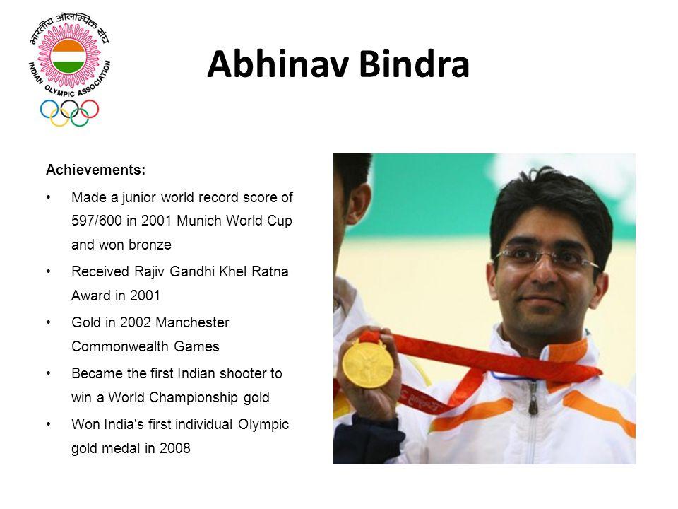 Abhinav Bindra Achievements: