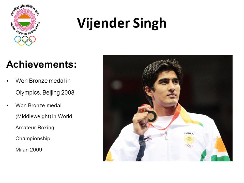 Vijender Singh Achievements:
