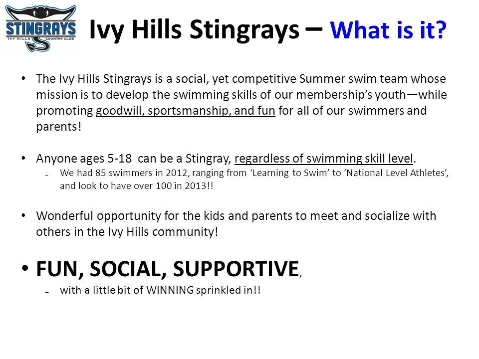 Ivy Hills Stingrays – What is it