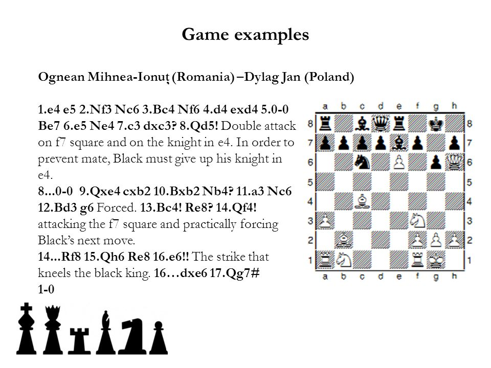 Game examples Ognean Mihnea-Ionuţ (Romania) –Dylag Jan (Poland)
