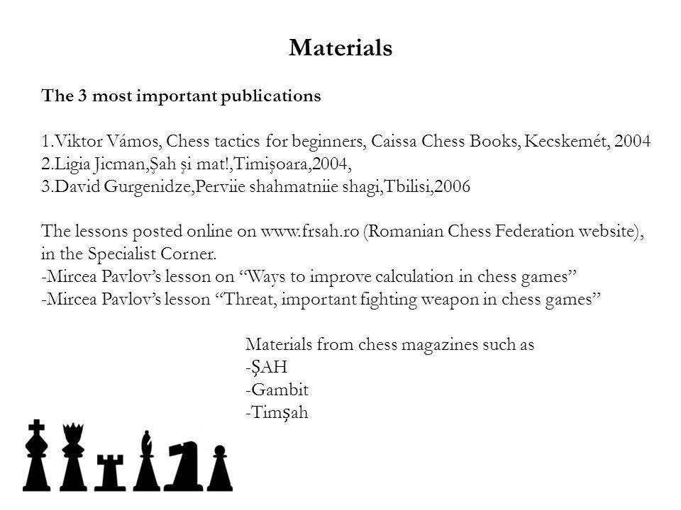 Materials The 3 most important publications