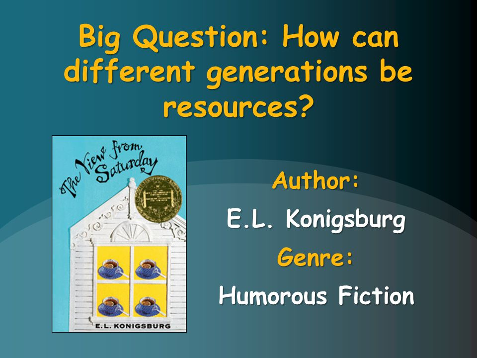Author: E.L. Konigsburg Genre: Humorous Fiction