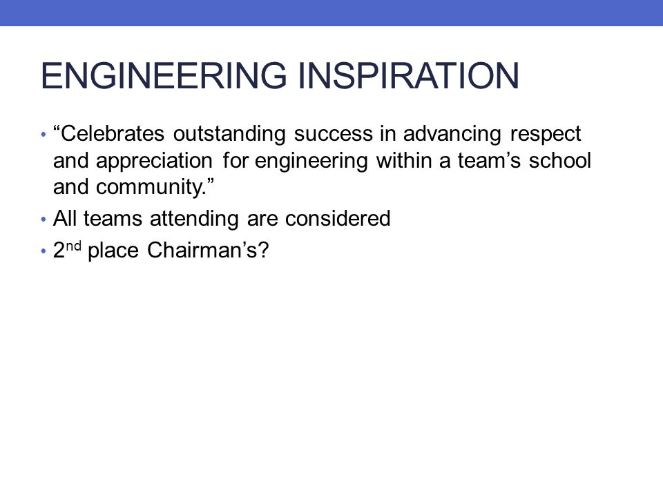 ENGINEERING INSPIRATION