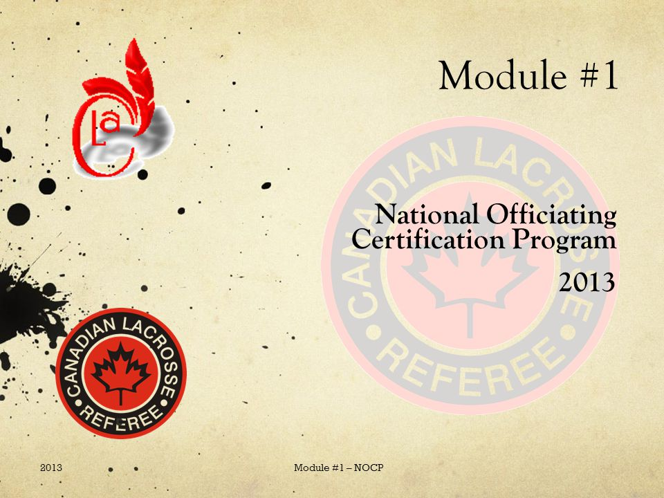 National Officiating Certification Program 2013