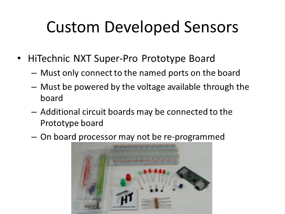 Custom Developed Sensors