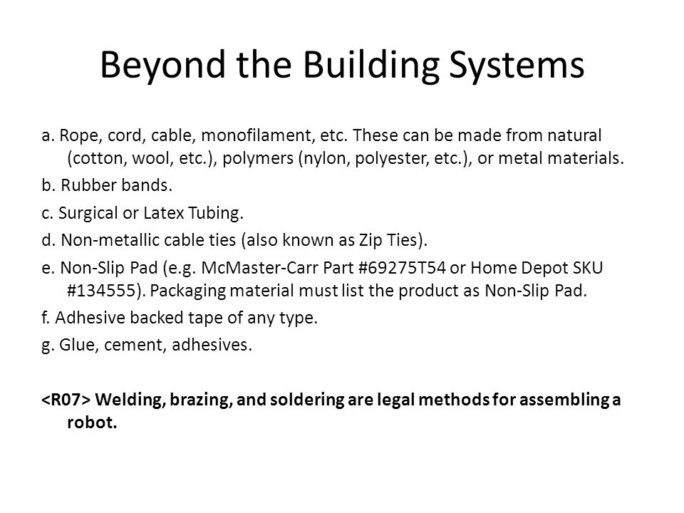 Beyond the Building Systems