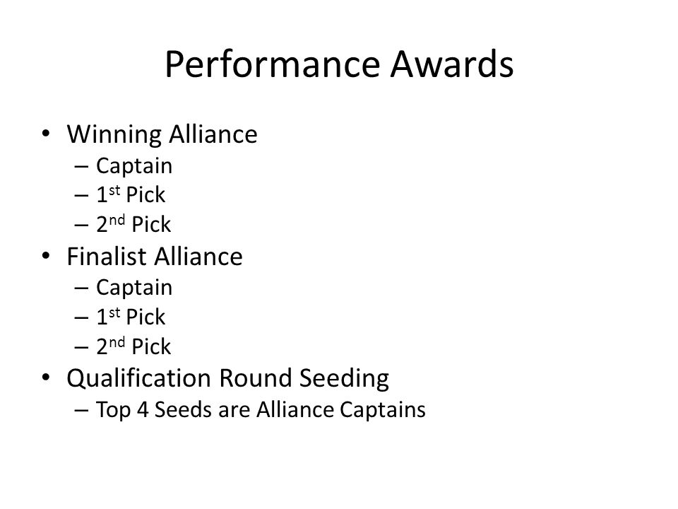 Performance Awards Winning Alliance Finalist Alliance