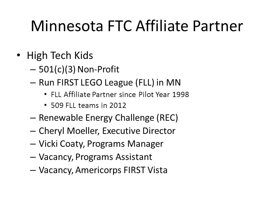 Minnesota FTC Affiliate Partner