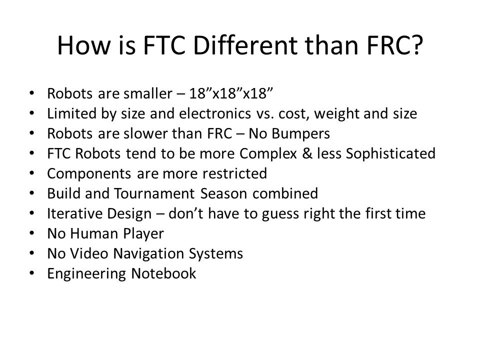 How is FTC Different than FRC