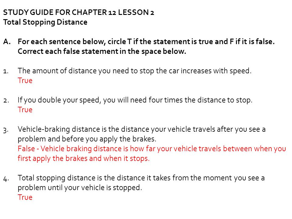 STUDY GUIDE FOR CHAPTER 12 LESSON 2