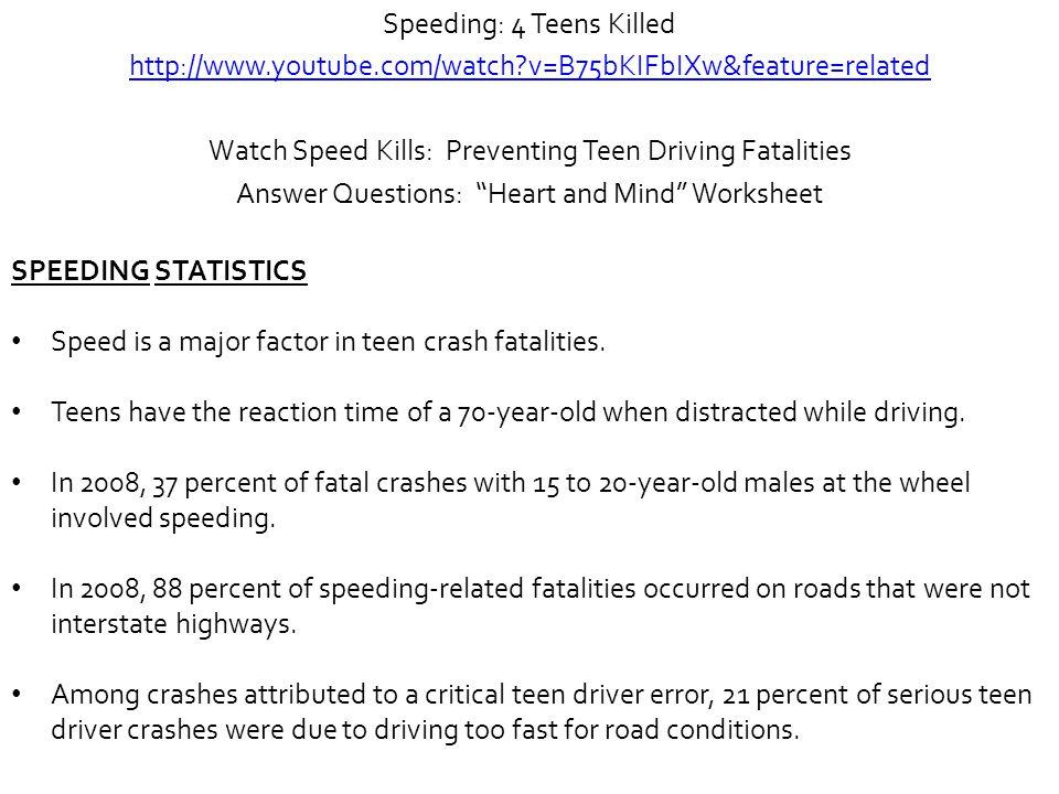 Speeding: 4 Teens Killed