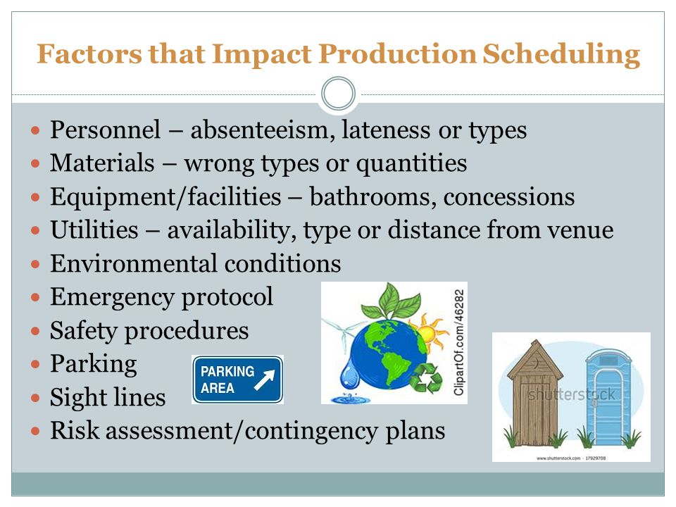 Factors that Impact Production Scheduling