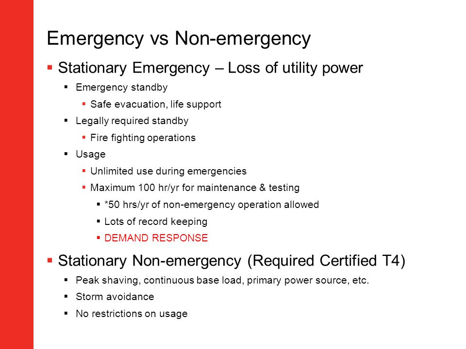 Emergency vs Non-emergency