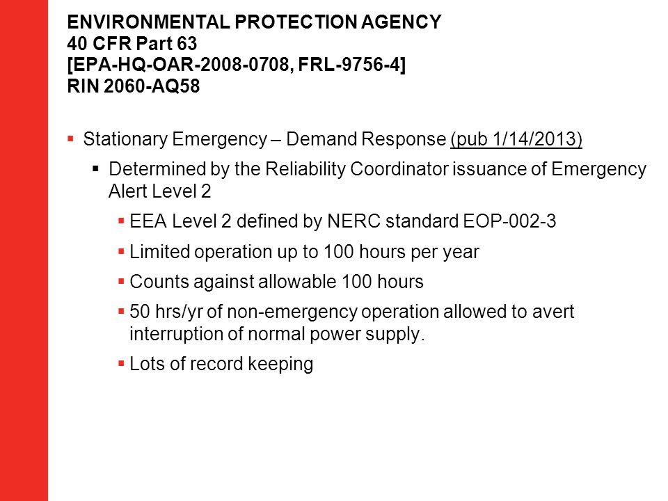 Stationary Emergency – Demand Response (pub 1/14/2013)