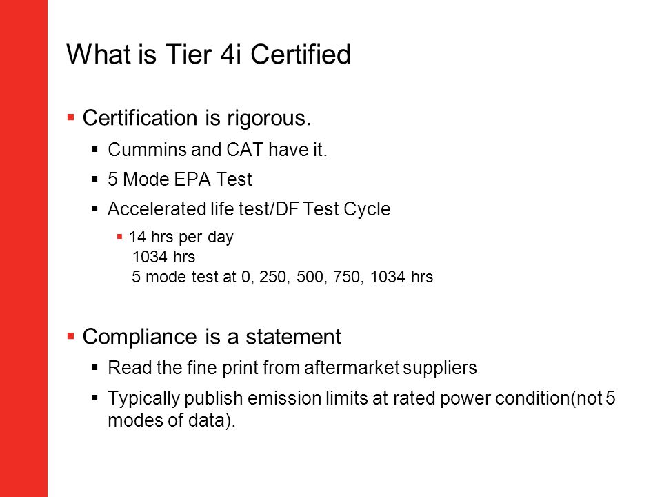 What is Tier 4i Certified