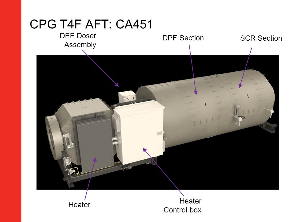 CPG T4F AFT: CA451 DEF Doser Assembly DPF Section SCR Section