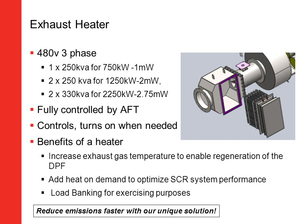 Exhaust Heater 480v 3 phase Fully controlled by AFT