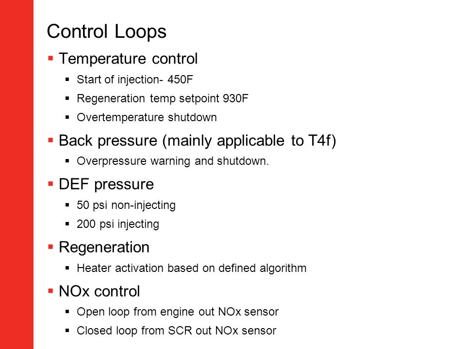 Control Loops Temperature control