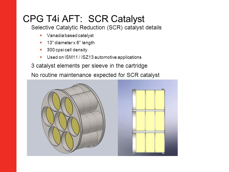 CPG T4i AFT: SCR Catalyst